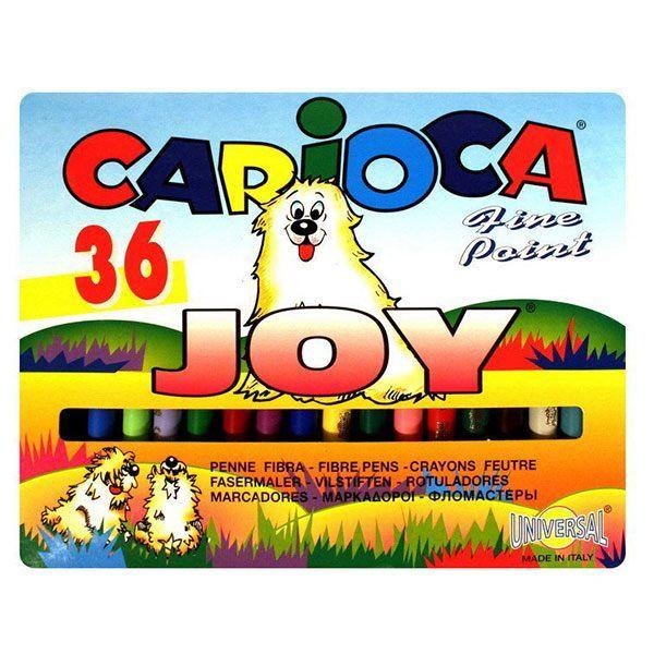 Фломастеры CARIOCA JOY 36 цв. карт. упак. кругл. корп.