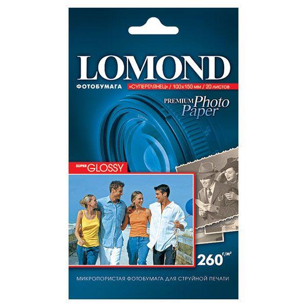 Фотобумага LOMOND PHOTO Super Glossy (суперглянц.) 20 л. 260 г/м2 А6