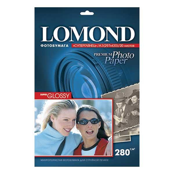 Фотобумага LOMOND PHOTO Super Glossy (суперглянц.) 20 л. 280 г/м2 А4