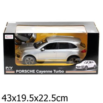 Машина р/у rastar porsche cayenne turbo 1:14 со светом, цвет в ассорт. в кор.