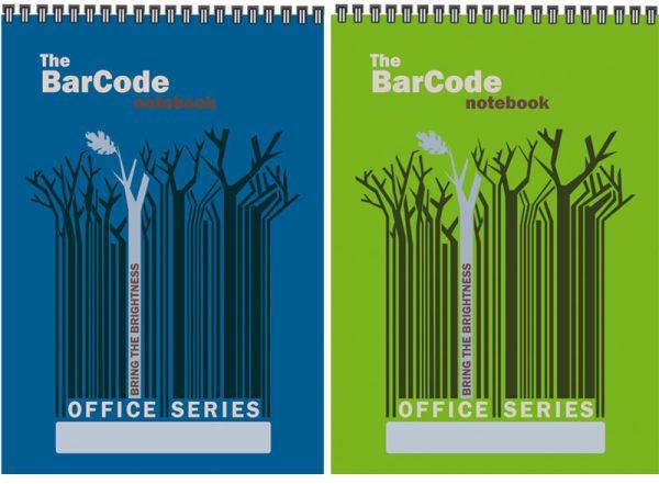 """Бл 60л Wсп 148*210 кл 6493/2-EAC полн УФ """"Штрих-код: деревья, синий/зеленый"""""""