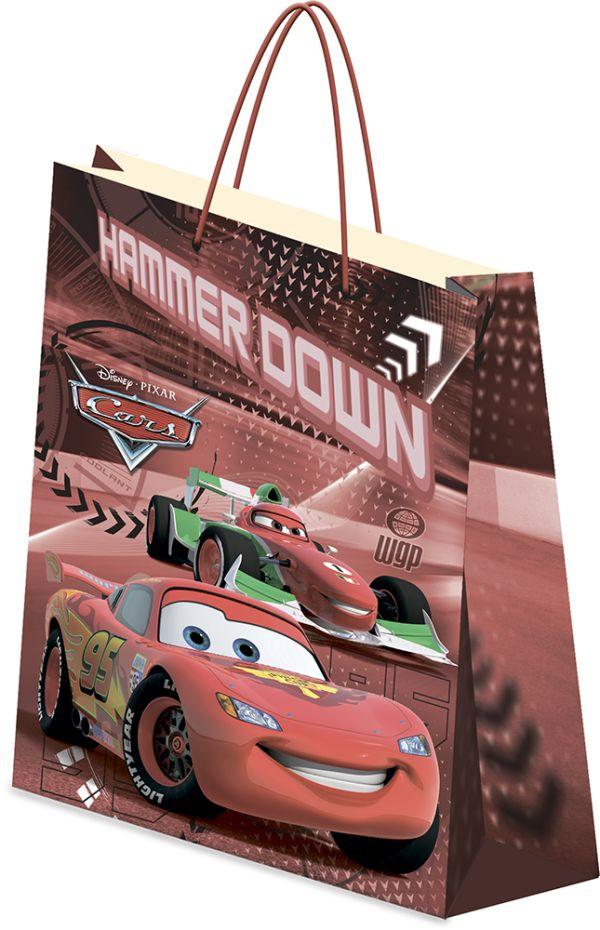 Пакет подарочный, 41,5 х 55 х 15,5 см, эффект: матовая ламинация,  плотность бумаги 157 гр/м2 упак. 12/72/144 шт. Cars