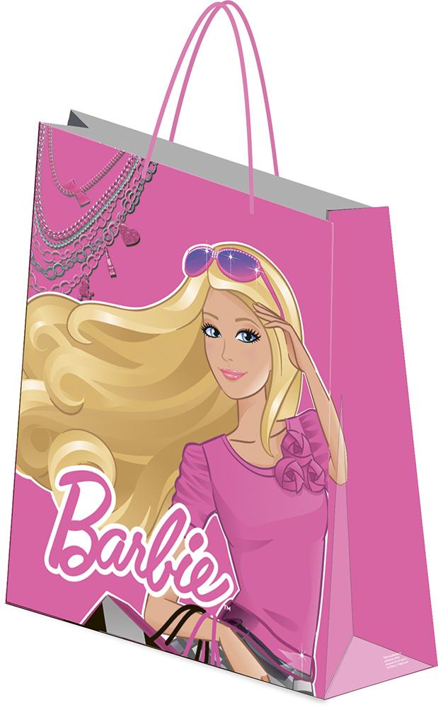 Пакет подарочный, 41,5 х 55 х 15,5 см, эффект: матовая ламинация, плотность бумаги 157 гр/м2 упак. 12/72/144 шт. Barbie