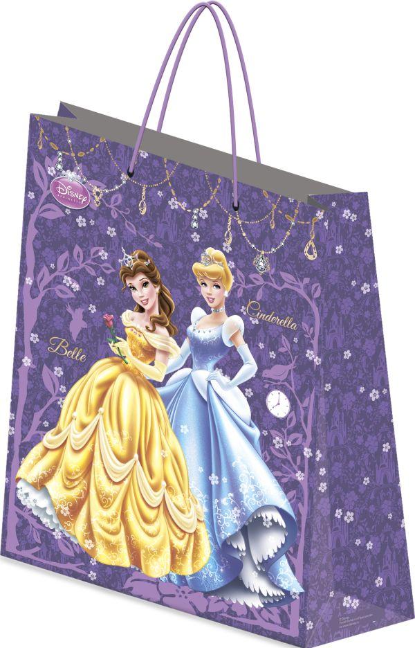 Пакет подарочный, 41,5 х 55 х 15,5 см, эффект: матовая ламинация , плотность бумаги 157 гр/м2  упак. 12/72/144 шт. Princess