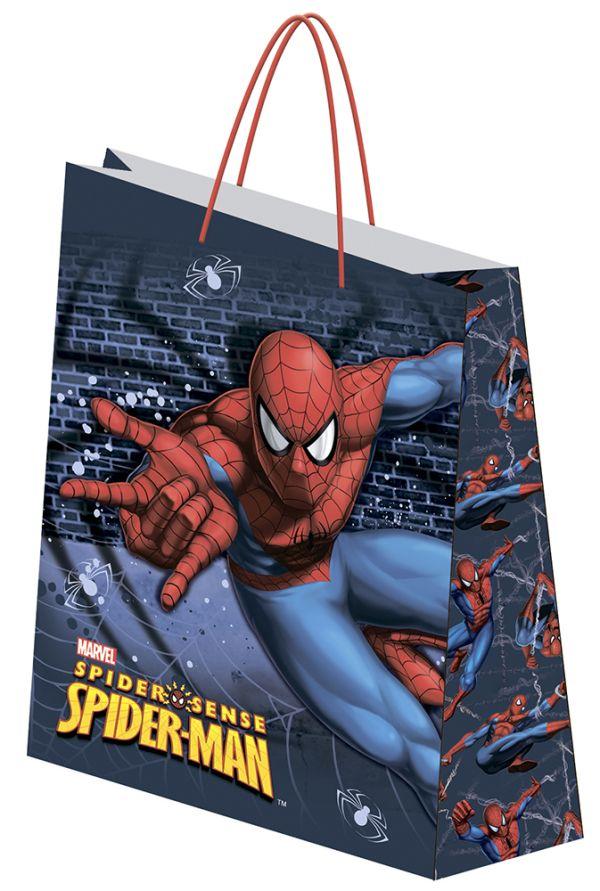 Пакет подарочный,  41,5 х 55 х 15,5 см, эффект: матовая ламинация, плотность бумаги 157 гр/м2   упак. 12/72/144 шт. Spider-man