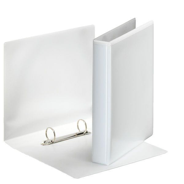 Папка с кольцами ESSELTE ПАНОРАМА 2 кольца А4 белый пластик 30 мм карман
