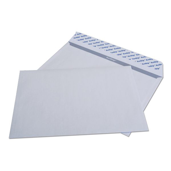 Конверт почт. оф. С4 229х324 стрип 90 г/м2 белый плоск.