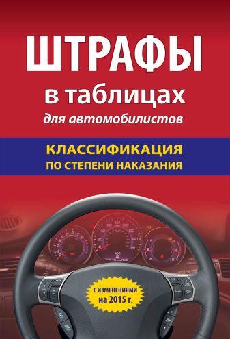 Штрафы в таблицах для автомобилистов с изм. на 2015 (классификация по степени наказания)