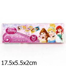 """Домино пластмассовое  """"Дисней принцессы 3-в-1"""""""