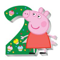 Peppa Pig - Свеча цифра