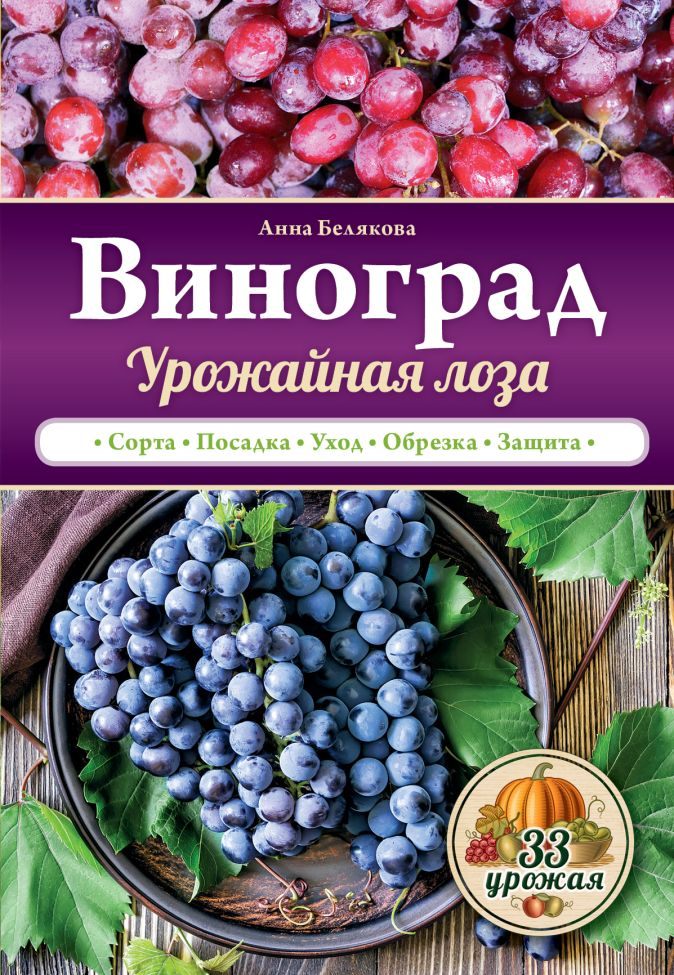 Анна Белякова - Виноград. Урожайная лоза обложка книги