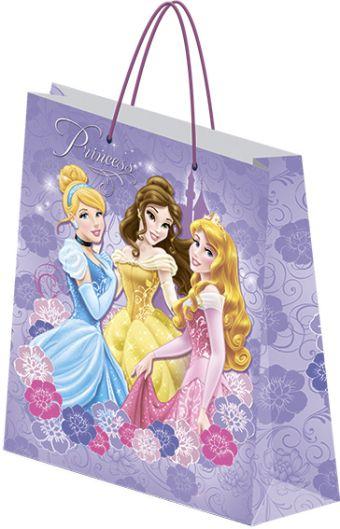 Пакет подарочный бумажный Принцессы 33х43х10 лам