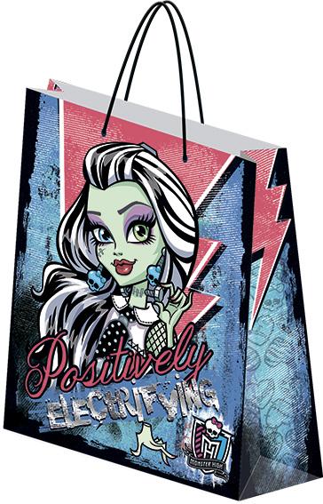 Пакет подарочный бумажный 33х43х10 Monster High