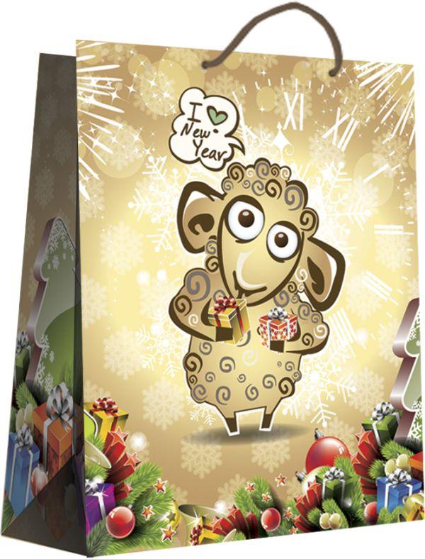 Пакет подарочный бумажный прочный 33х46х12 Символ 2015