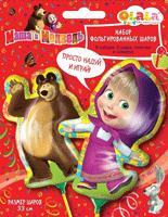 Маша и Медведь - Набор фольг. мини-шаров