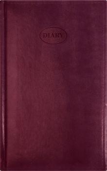 Ежедневник 130х210, NEBRASKA (на форзацах карты) (Бордовый)