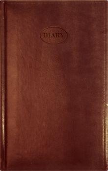 Ежедневник 130х210, NEBRASKA (на форзацах карты) (Коричневый)