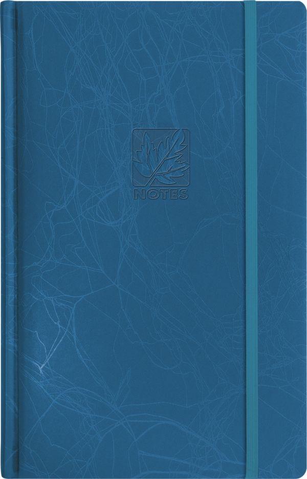 Записная книга, на резинке, 130х210, SCRIBBLE (Синий)