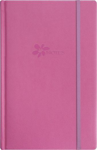 Записная книга, на резинке, 130х210, FLOWER (Розовый)