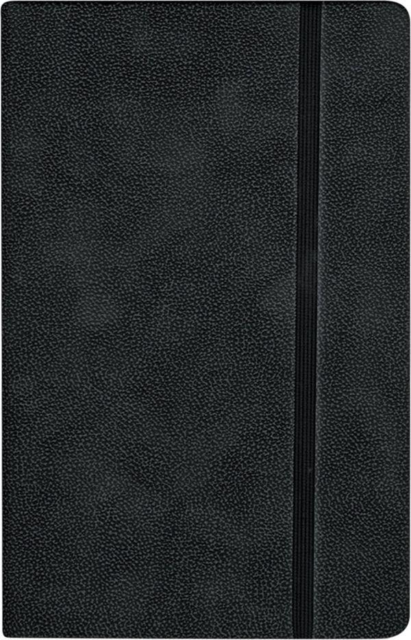 Записная книга, на резинке, 130х210, TANN (Черный)