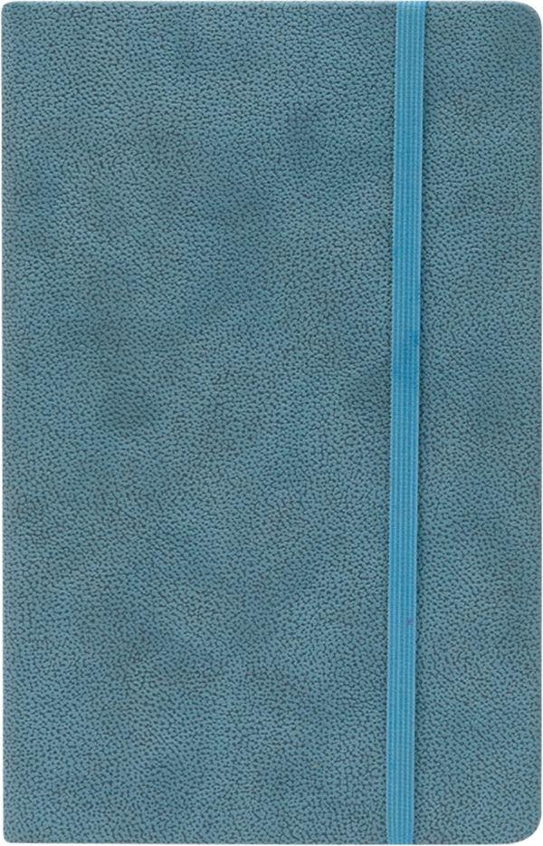 Записная книга, на резинке, 130х210, TANN (Синий)