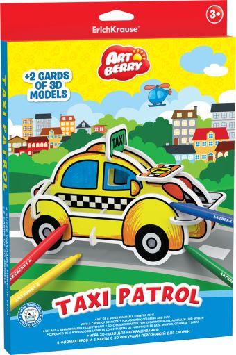 Игровой 3D пазл для раскрашивания Artberry/Taxi Patrol (6 флом+2 карты с фигур д/сборки) (Разноцветн)