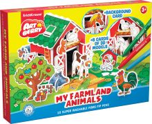 Игровой 3D пазл для раскраш Artberry/My Farmland Animals (10 флом+6 карт с фигур д/сборки+игровое поле) (Разноцветн)