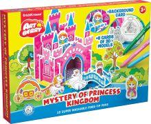 Игровой 3D пазл для раскраш Artberry/Mystery of Princess Kingdom (10 флом+6 карт с фигур д/сборки+игровое поле) (Разноцветн)