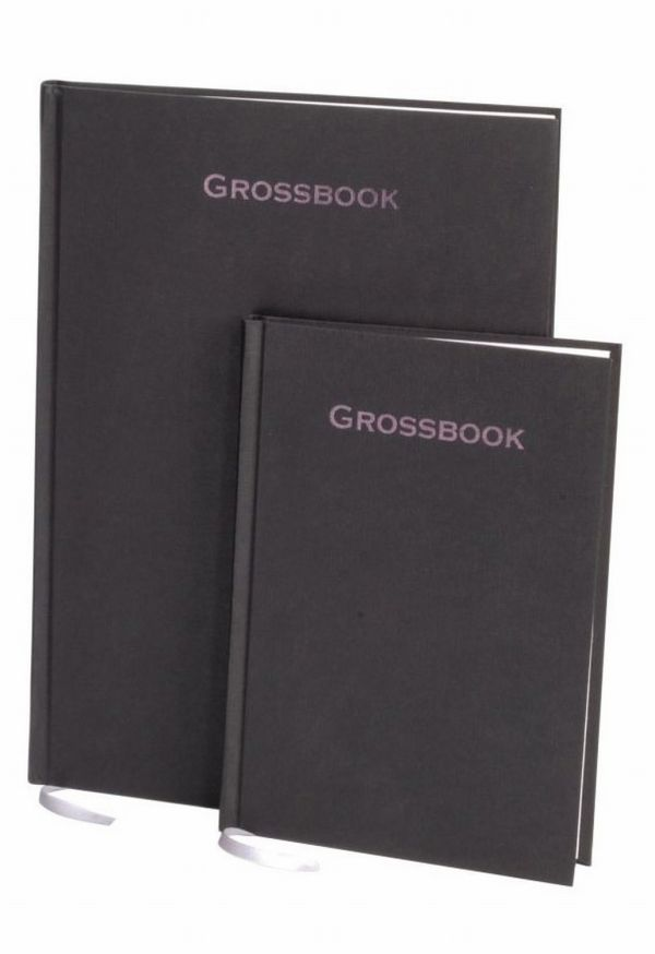 Книга для записей, А5, GROSSBOOK, линейка (Черный)