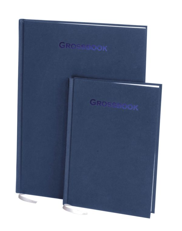 Книга для записей, А5, GROSSBOOK, линейка (Синий)