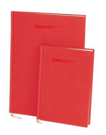Книга для записей, А5, GROSSBOOK, линейка (Красный)
