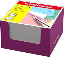 Блок бумаги Erich Krause 8*8*5 см в розовой картонной подставке (Белый)