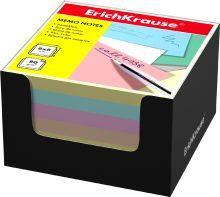 Блок бумаги Erich Krause 8*8*5 см в черной картонной подставке (Ассорти)