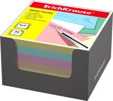 Блок бумаги Erich Krause 8*8*5 см в серой картонной подставке (Ассорти)