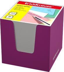 Блок бумаги Erich Krause 8*8*8 см в розовой картонной подставке (Белый)