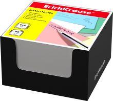 Блок бумаги Erich Krause 9*9*5 см в черной картонной подставке (Белый)