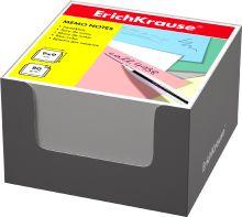 Блок бумаги Erich Krause 9*9*5 см в серой картонной подставке (Белый)