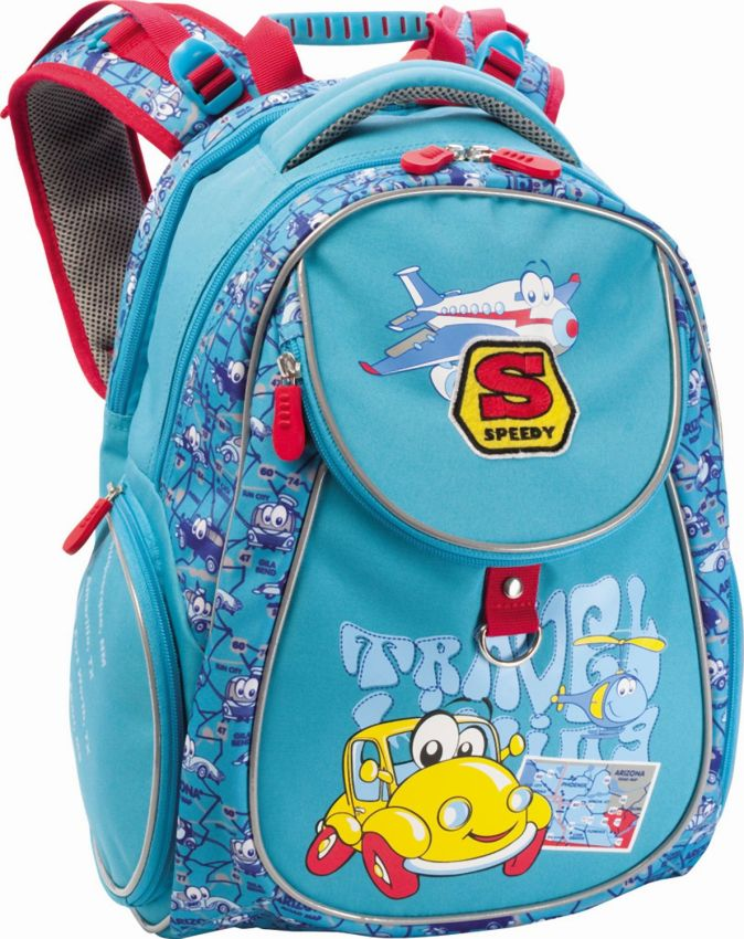 Рюкзак школьный Happy Car (Разноцветн)