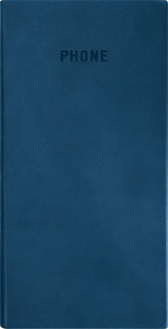 Телефонно-адресная книга   80x155, VIVELLA (Синий)