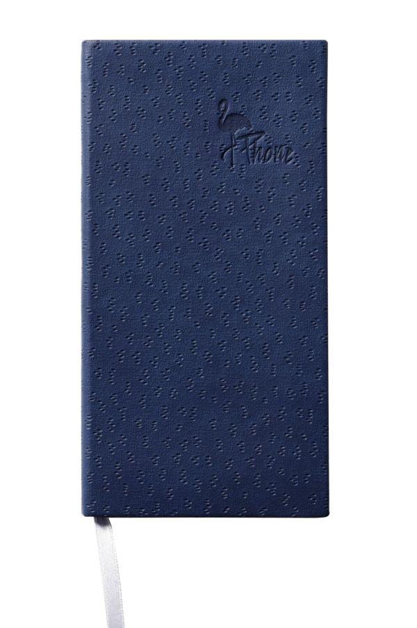 Телефонно-адресная книга   80x155, FLAMINGO (Синий)
