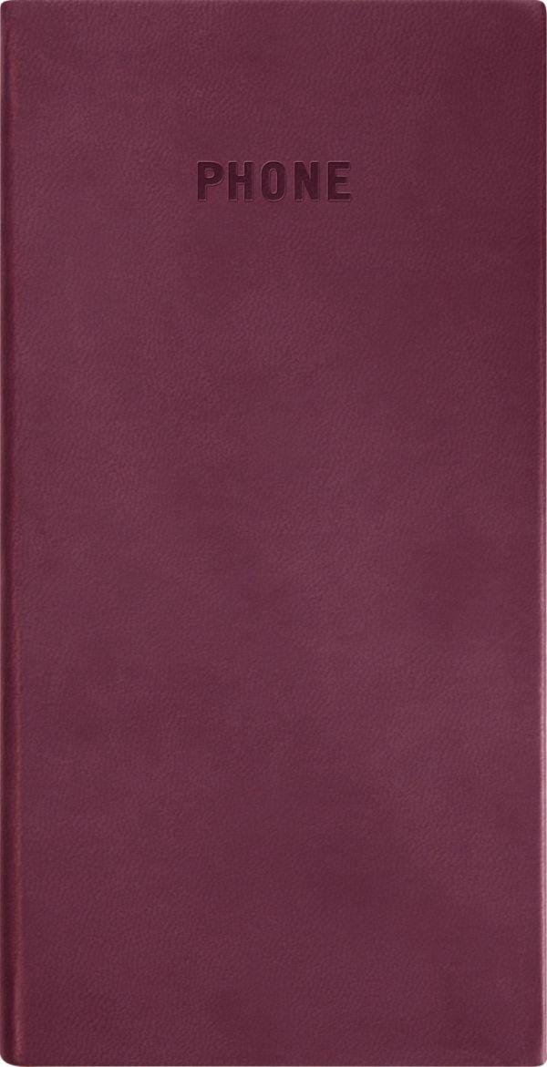 Телефонно-адресная книга   80x155, VIVELLA (Бордовый)