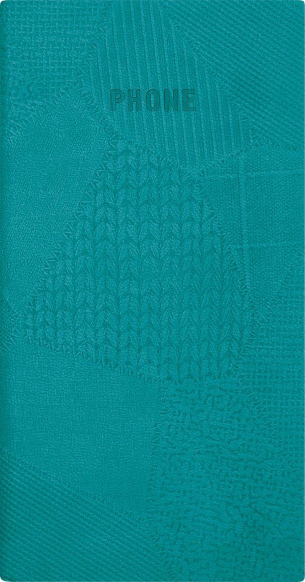 Телефонно-адресная книга   80x155, BAZAR (Бирюзовый)