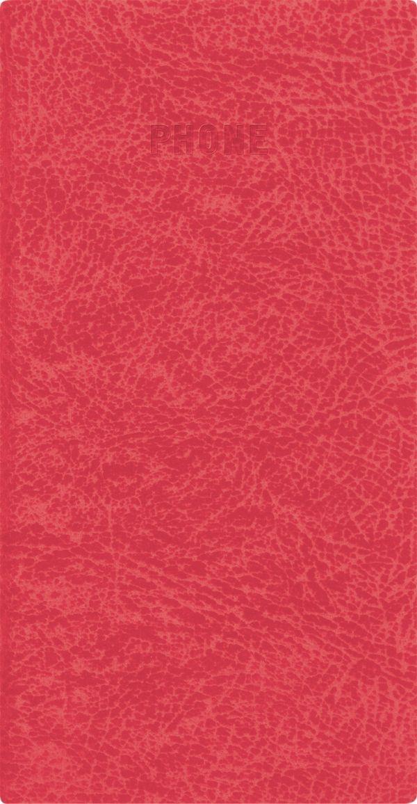 Телефонно-адресная книга   80x155, PERFECT (Красный)