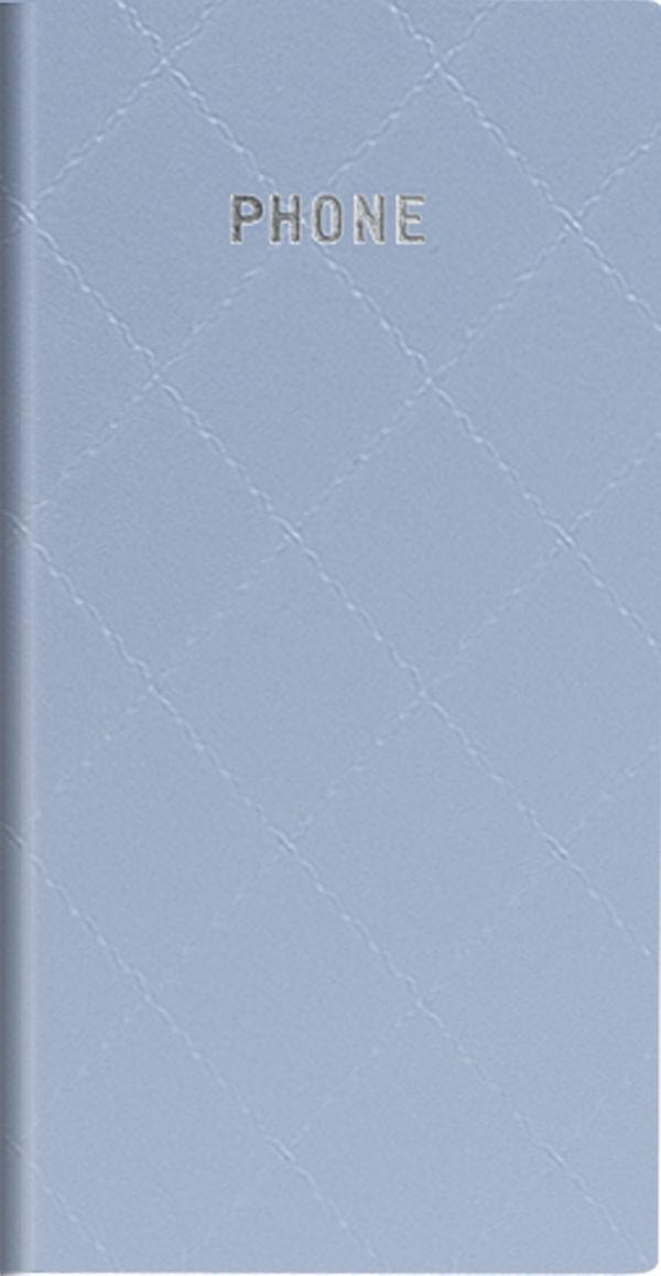 Телефонно-адресная книга   80x155, DIAMOND (Голубой)
