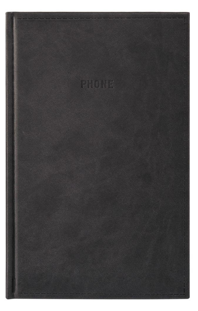 Телефонно-адресная книга 130x210, VIVELLA (Черный)