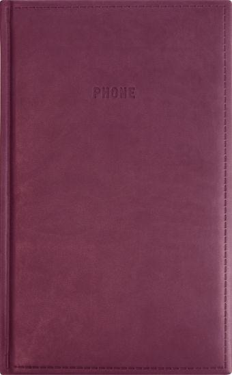 Телефонно-адресная книга 130x210, VIVELLA (Бордовый)