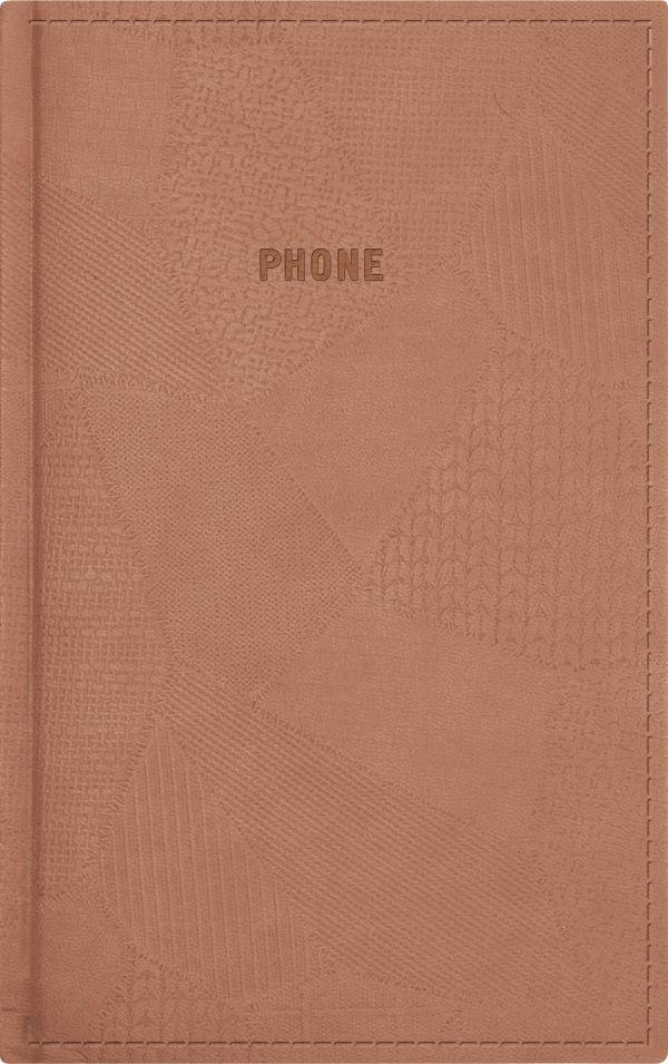 Телефонно-адресная книга 130x210, BAZAR (Коричневый)