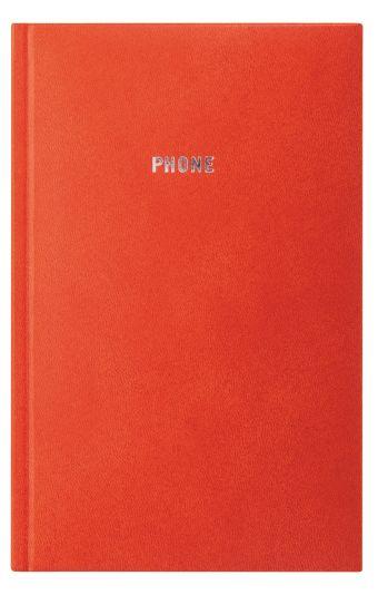 Телефонно-адресная книга 130x210, GALINE (Оранжевый)