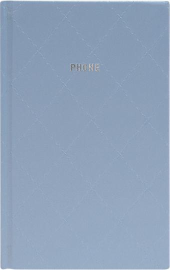 Телефонно-адресная книга 130x210, DIAMOND (Голубой)