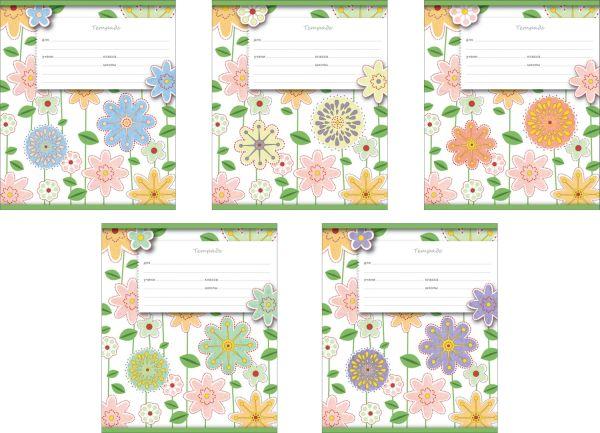 Тетрадь ученическая,12л Fleur design (Клетка)